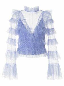 Alice McCall Tokyo Skies polka-dot blouse - Blue