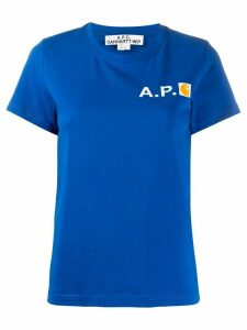 A.P.C. x Carhartt WIP chest logo T-shirt - Blue