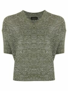 Roberto Collina melange knit jumper - Green
