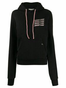Sandy Liang panelled logo hoodie - Black
