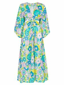 Dodo Bar Or Shelly cutout floral-print dress - Blue