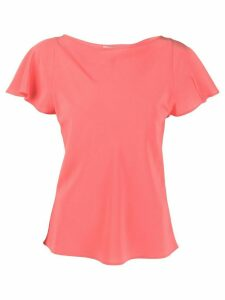 Etro fitted silk T-shirt - PINK