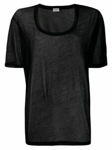 Saint Laurent scoop neck T-shirt - Black