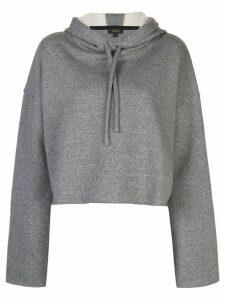 ALALA jersey contrast hoodie - Grey