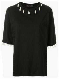 Romance Was Born Regency pearl-embellished T-shirt - Black