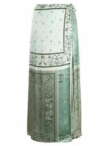 AMIRI paisley maxi skirt - Blue