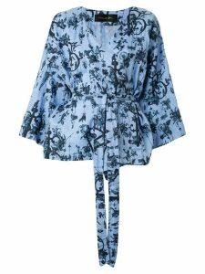 Romance Was Born Bell wrap tunic - Blue