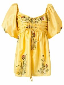 Romance Was Born Queens Hamlet embroidered top - Yellow