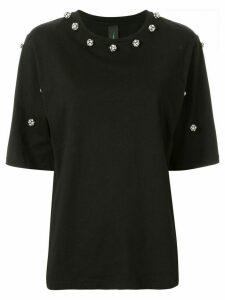 Romance Was Born Regency crystal-embellished T-shirt - Black