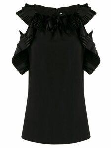 P.A.R.O.S.H. ruffled pleated details blouse - Black