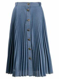 Philosophy Di Lorenzo Serafini pleated A-line midi skirt - Blue