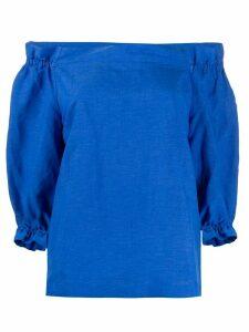 Stefano Mortari off-shoulder boxy blouse - Blue