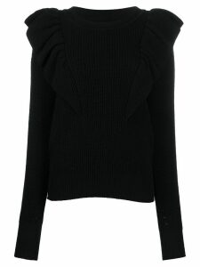 Isabel Marant Blakely ruffled shoulders jumper - Black