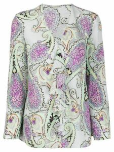 Etro paisley-print silk blouse - Blue