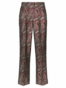 Golden Goose Sally paisley-print straight-leg trousers - Red