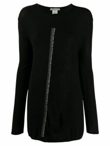 Stefano Mortari contrasting stripe loose-fit jumper - Black