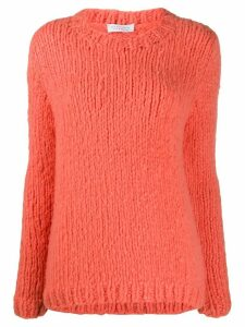 Gabriela Hearst cashmere crew neck jumper - ORANGE