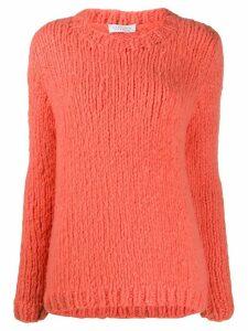 Gabriela Hearst cashmere crew neck jumper - ORANGE