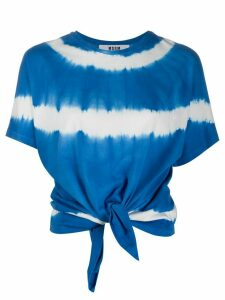 MSGM tie-dye knotted T-shirt - Blue