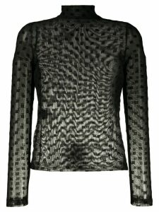 Misbhv sheer high neck blouse - Black