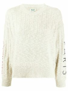 Kenzo cross-stitch logo sweater - NEUTRALS