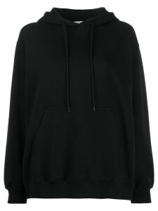 MSGM logo-print hooded sweatshirt - Black