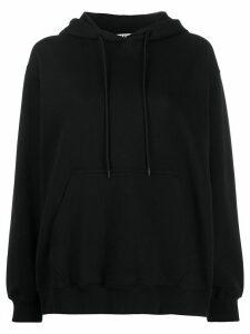 MSGM logo-print hooded sweatshirt - Black