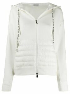 Moncler fabric and padded zipped jacket - White
