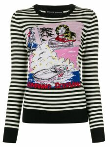 Ermanno Scervino nautical-theme knit jumper - Black