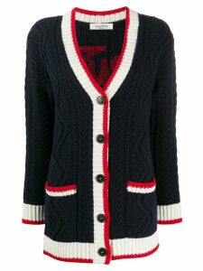 Valentino button up knitted cardigan - Blue