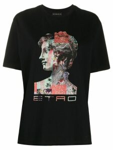 Etro graphic print T-shirt - Black