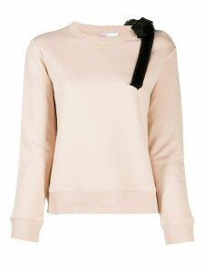 RedValentino bow detail sweatshirt - NEUTRALS