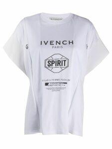 Givenchy Spirit printed oversized T-shirt - White