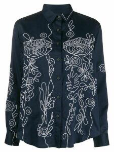 Mara Hoffman Margot embroidered blouse - Blue
