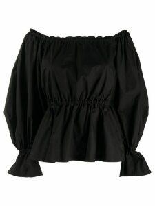 Pinko off-shoulder oversized sleeve blouse - Black