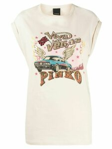 Pinko graphic print muscle T-shirt - NEUTRALS