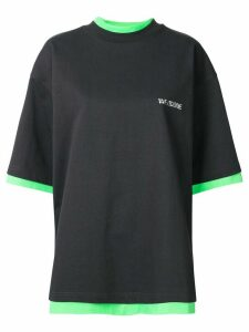 We11done oversized reversible T-shirt - Grey