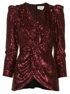 Sachin & Babi ruched sequin embroidered shirt