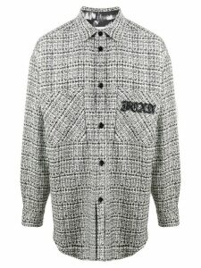 Faith Connexion tweed shirt jacket - White