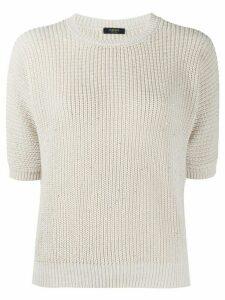 Peserico embellished knit jumper - NEUTRALS