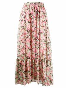 Pinko floral-print maxi skirt