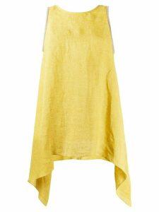 Fabiana Filippi draped sides tank top - Yellow
