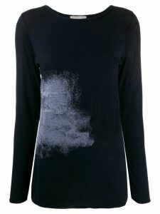 Stefano Mortari abstract print long-sleeved T-shirt - Blue