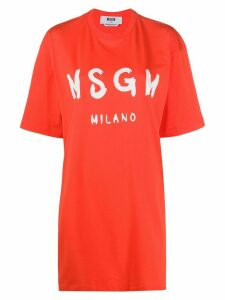 MSGM oversized T-shirt dress - Red