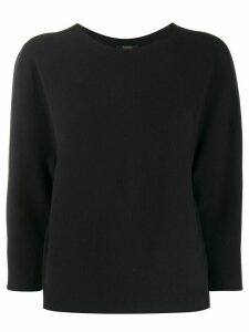 Peserico cropped sleeves jumper - Blue