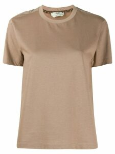Fendi round neck T-shirt - NEUTRALS