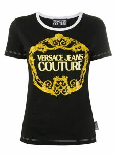 Versace Jeans Couture Barocco logo-print T-shirt - Black