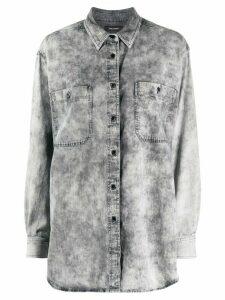 Isabel Marant long-line denim shirt - Grey