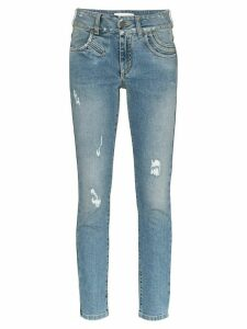 Givenchy distressed stretch-denim skinny jeans - Blue