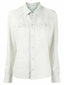 P.A.R.O.S.H. leather western shirt - White